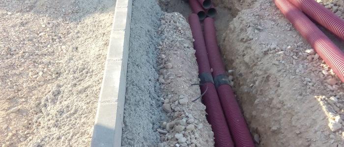 Zanjas de instalación eléctrica. CADERSA, SL