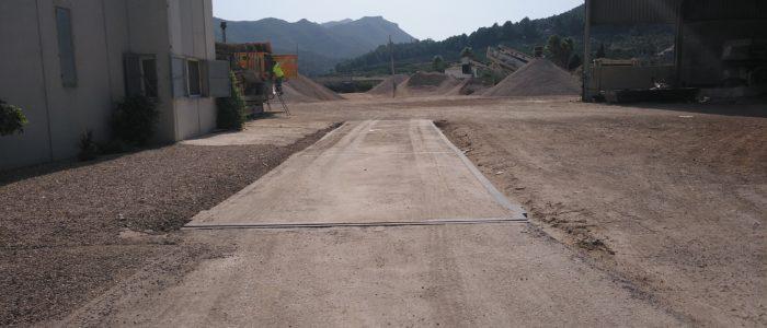 Báscula de la planta de valorización de residuos RCD. CADERSA, SL
